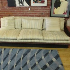 Platform Sofa Navy Blue Sectional Sofas Thayer Coggin Striped  Sold Ballard