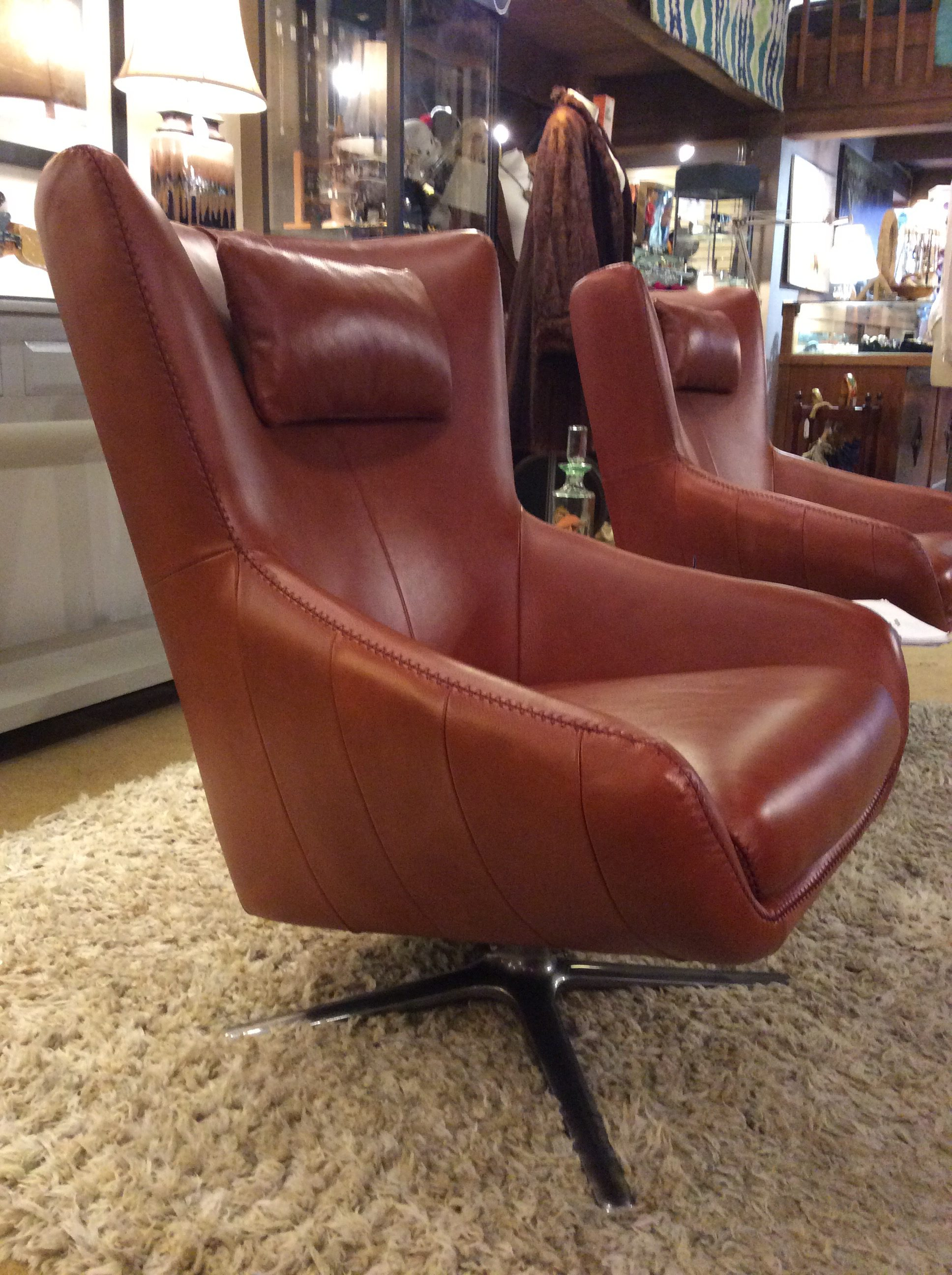 Red Leather Swivel Chair Brown Leather Swivel Chair Sold
