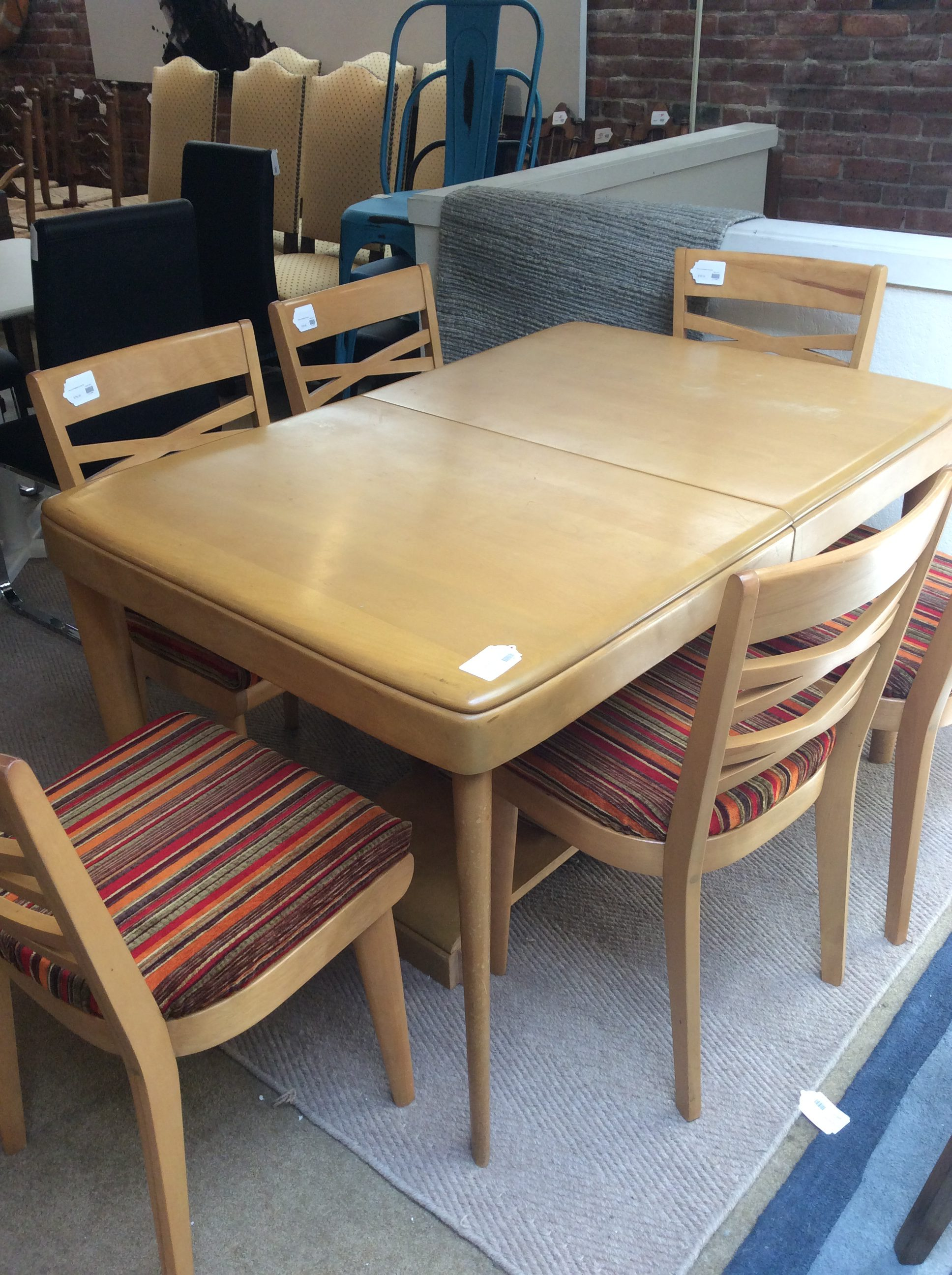 Heywood Wakefield Dining Chairs Heywood Wakefield Dining Set Sold