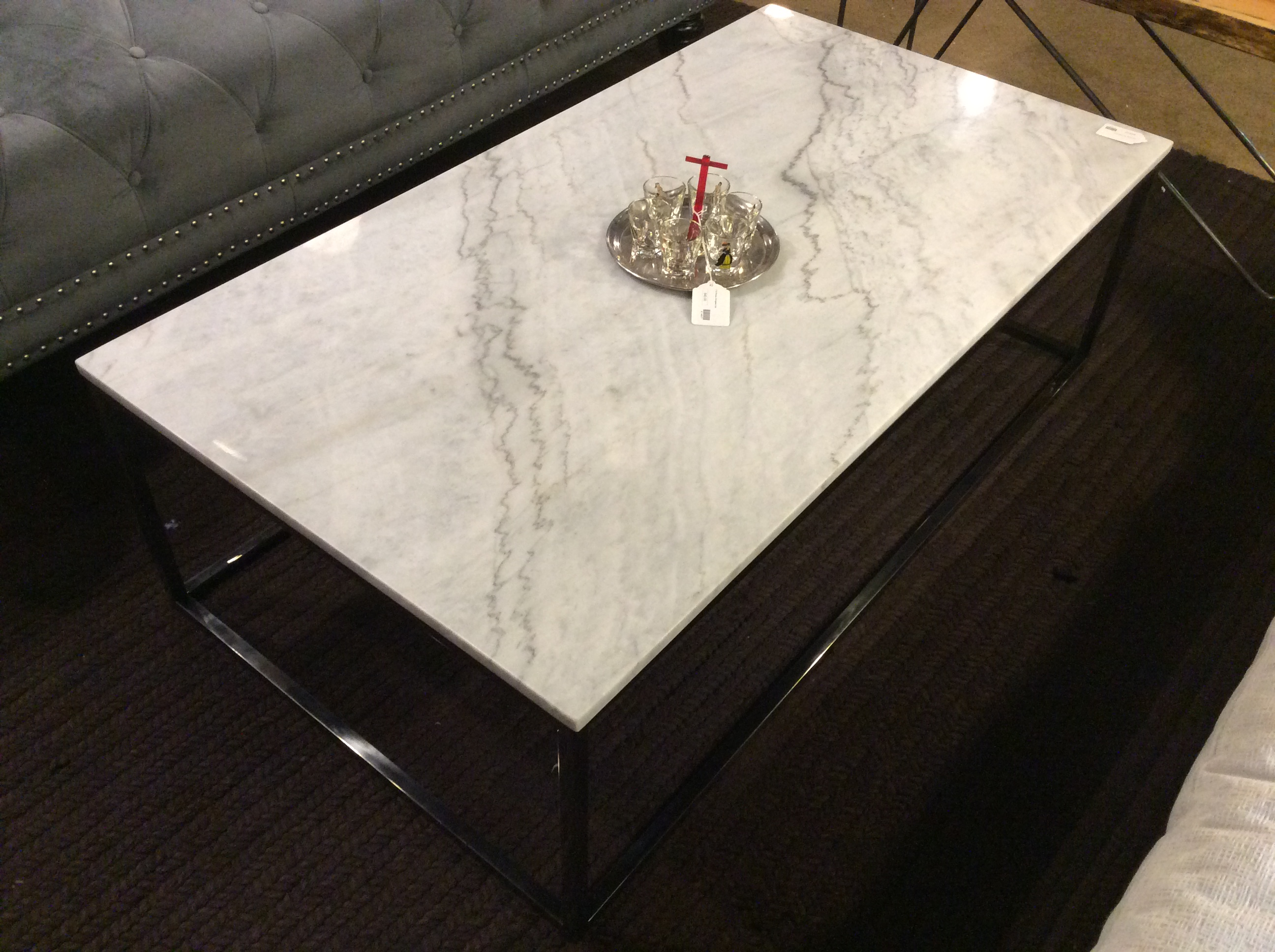 Grey Marble Top Coffee Table Sold Ballard Consignment
