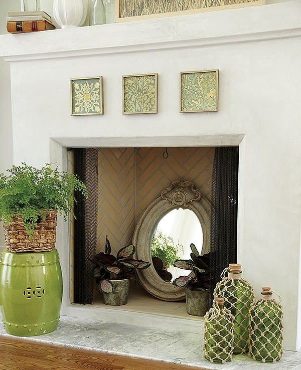 Our Favorite Fillers For A Cool Summer Fireplace How To Decorate