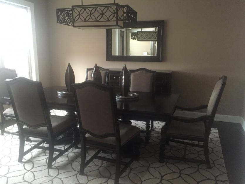 Finishing Touches In A Dining Room