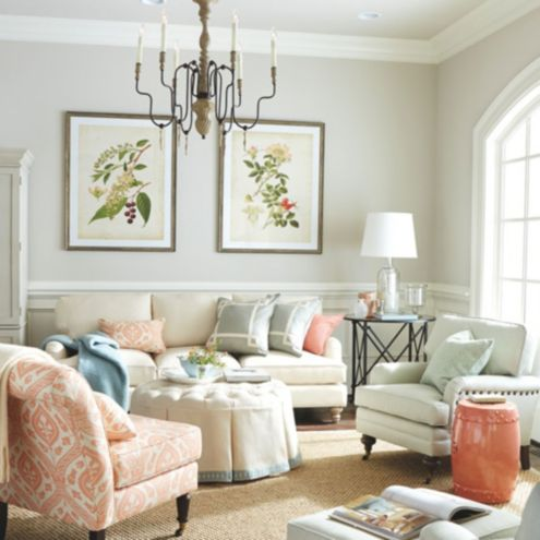 small modular sofa sectionals ashley wood trim travice living room furniture collection | ballard designs
