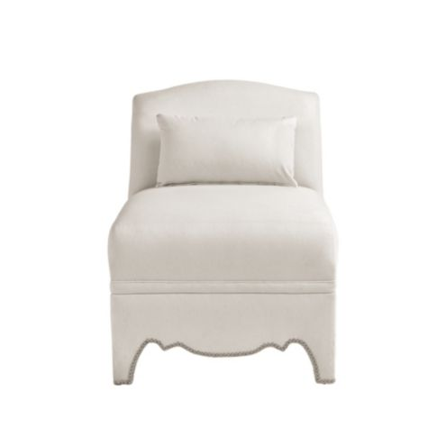 slipcover for armless slipper chair faux leather pad davenport club - special order fabrics | ballard designs