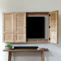 Shutter TV Wall Cabinet | Ballard Designs