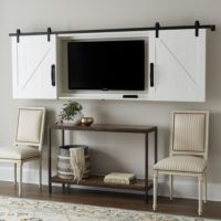 Barn Door TV Wall Cabinet | Ballard Designs