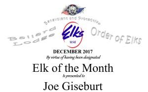 Elk of the month header December