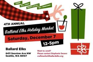 Holiday Craft Market @ Ballard Elks Lodge