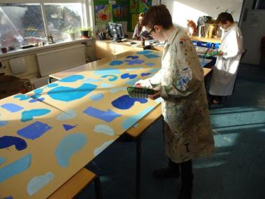 2016.2.12 Yr 7 art mural project (1)