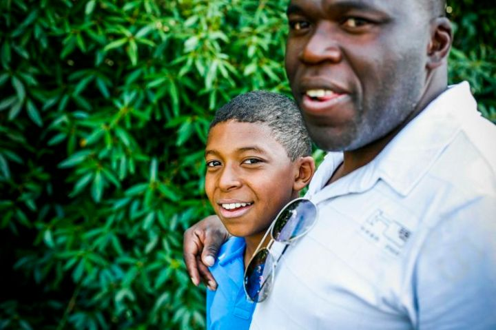 Kylian Mbappé con il padre