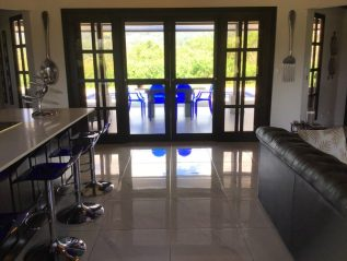 Kitchen looking out patio doors (1)