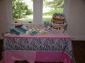 Dessert and Candy Table at Birthday party