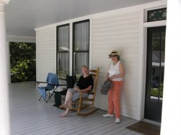 Enjoying the front porch at Ballentine Spence House
