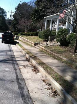 Sidewalk repairs in Fuquay Springs Historical District