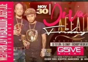 MIA - G5IVE Friday's 11/30 @ G5IVE Miami |  |  |