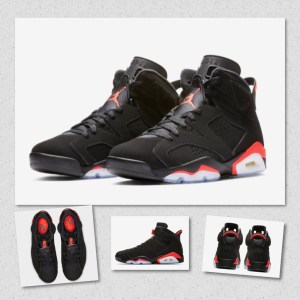 "d3862abe9da6e9 The Air Jordan 6 ""Black Infrared"" shoe will be released during All-Star  Weekend on February 16th at select  Jordan Brand retailers and  StockX"