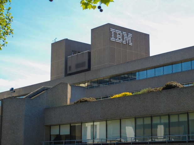 London, UK - May 6, 2010: The IBM building is a masterpiece of New Brutalist architecture designed by british architect Sir Denys Lasdun who also designed the nearby National Theatre