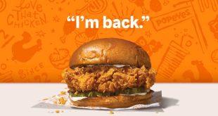 Popeyes Chicken is Back