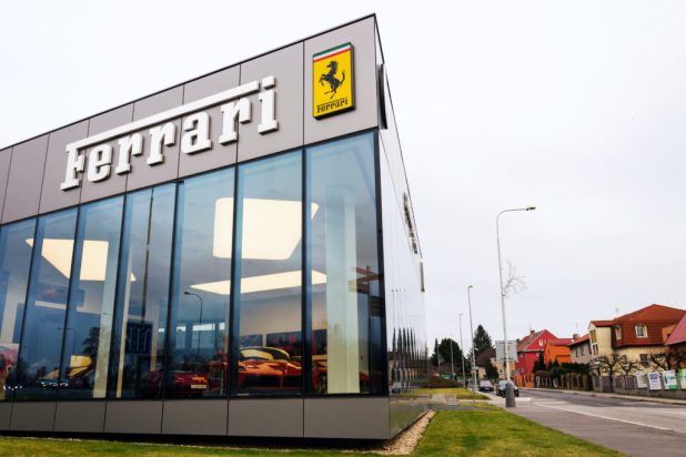 Ferrari and Armani work together
