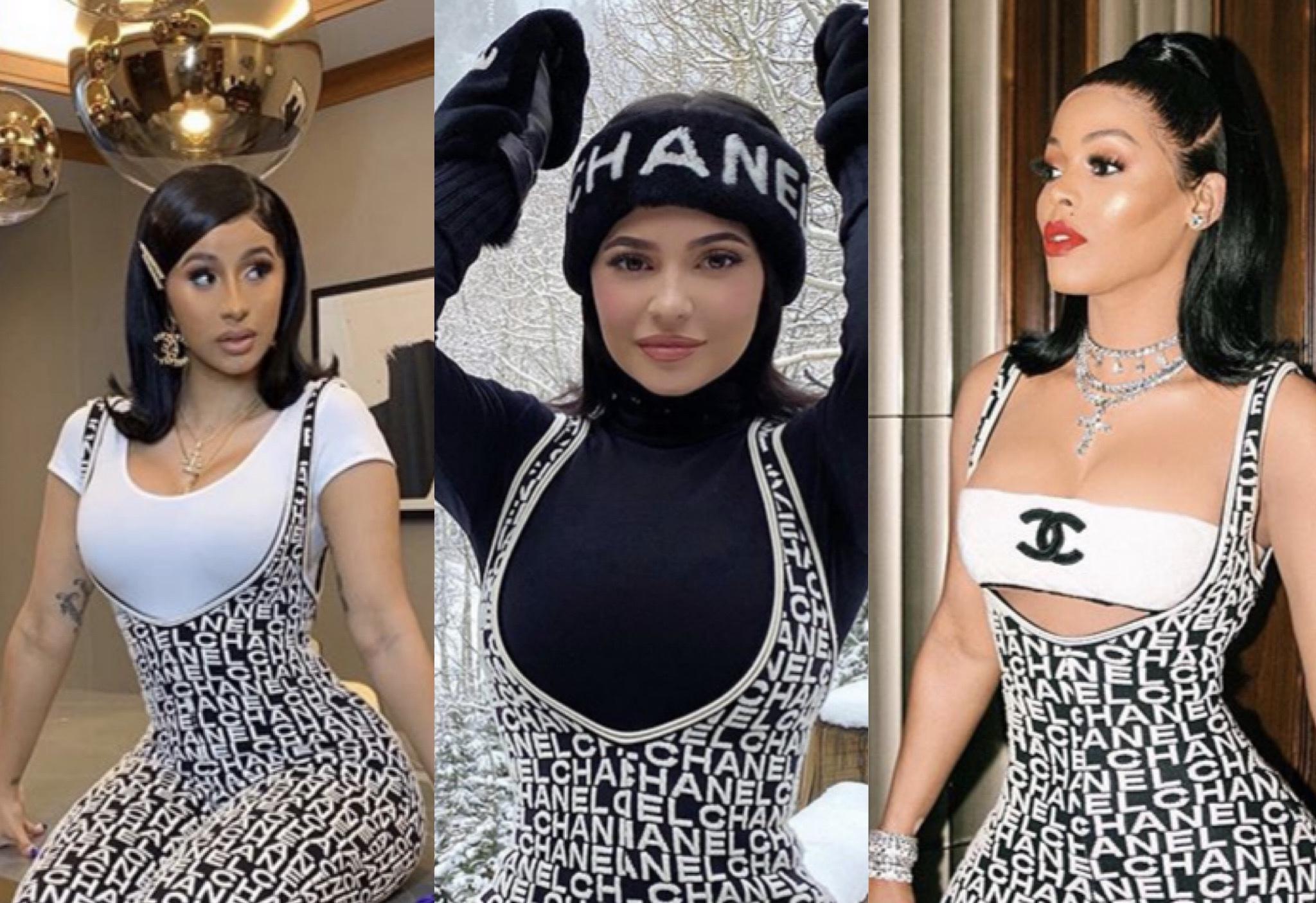 Baller Alert's Who Wore It Better: Cardi B. vs. Kylie Jenner vs. Keyshia Ka'oir In Chanel's Wool Ecru Jumpsuit