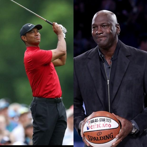 Tiger Woods and Michael Jordan