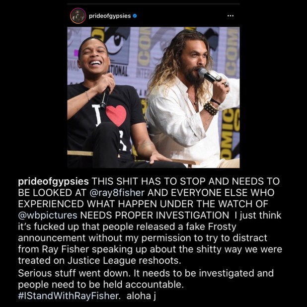 Jason Momoa Stands with Ray