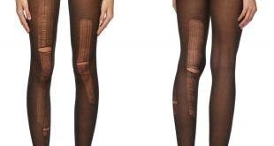 Gucci Distressed Tights