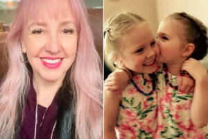 Michele Boudreau Deegan and her twin daughters - Facebook