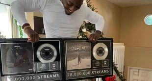 Ace Hood Receives Plaques As An Independent Artist