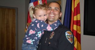 Police officer adopts little girl he comforted while on duty