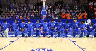 Kentucky players took a knee