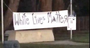 White Lives Matter Sign