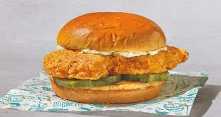 Popeyes cajun flounder sandwich