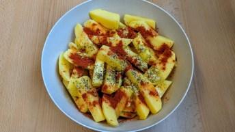 Kartoffel, Salz, Pfeffer, Öl & Paprikapulver