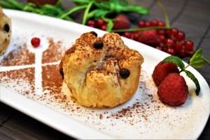Blätterteig Muffins mit Mango-Kokos-Creme