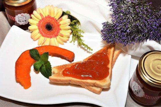 Kürbis Marmalade Nachtisch