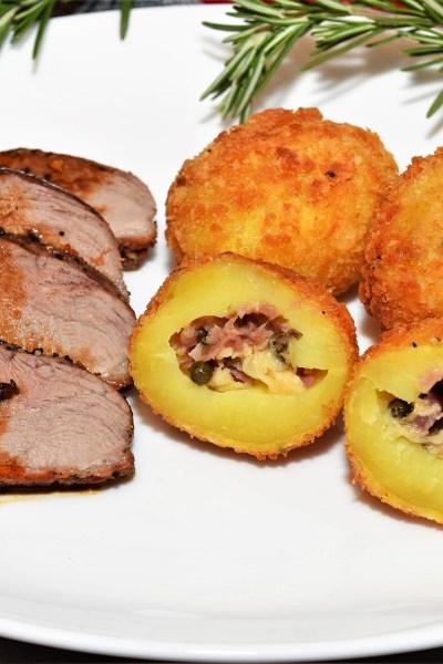 Gefüllte Kartoffeln mit Pankokruste Rezept