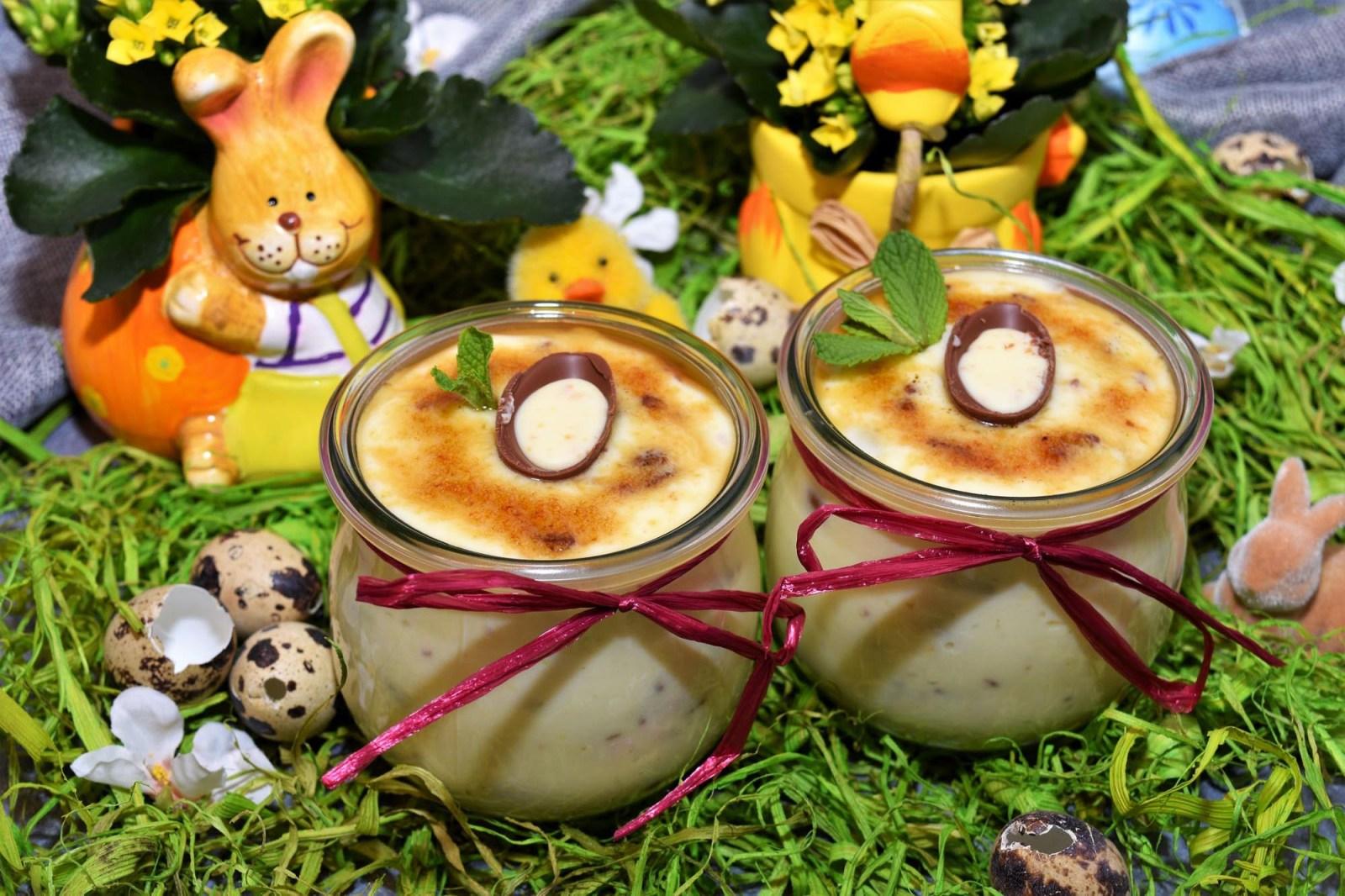 Österliche Creme Brûlée Création Dessert
