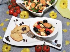 Gegrillte Paprika und Zucchini Salat Rezept