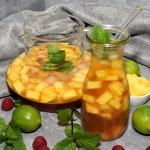 Ananas Eistee Sommergetränk