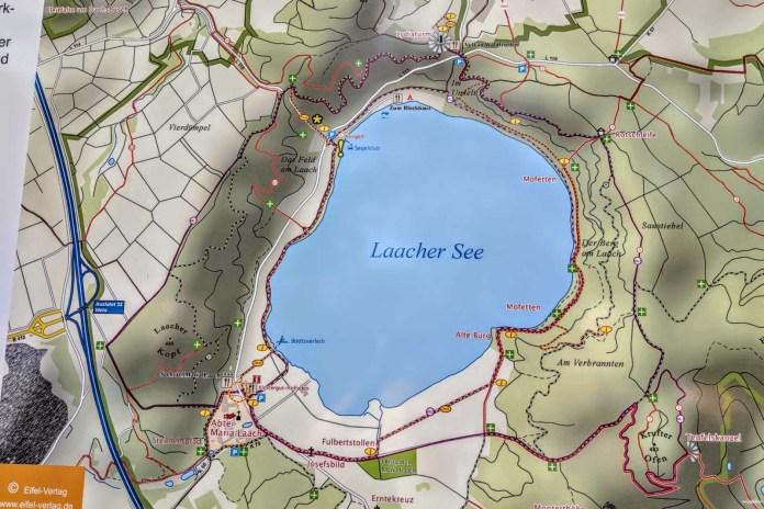 Der Laacher See Landkarte