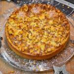 Polenta Kokos Kuchen mit Kaki Marzipan Rezept