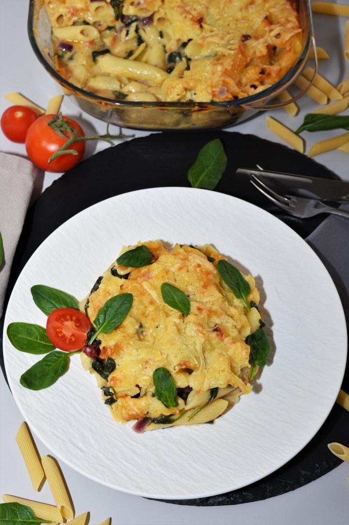 Nudel-Spinat-Auflauf-Mediterrane Gerichte