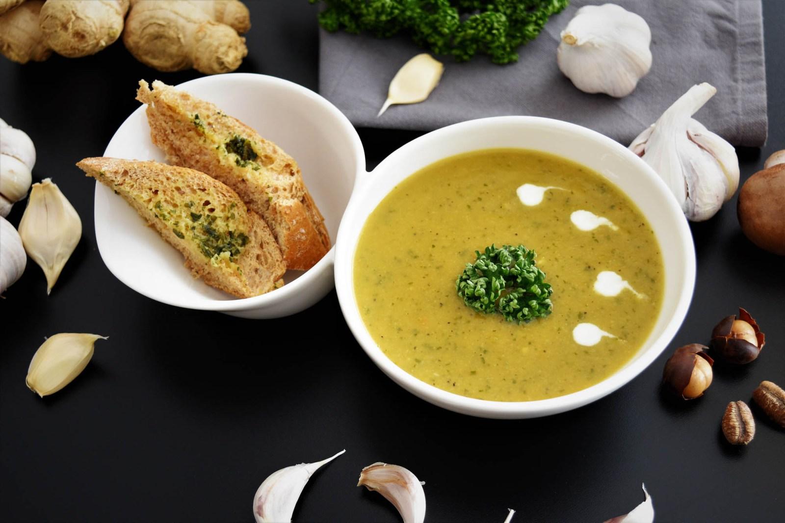 Knoblauch-Creme Suppe Rezept