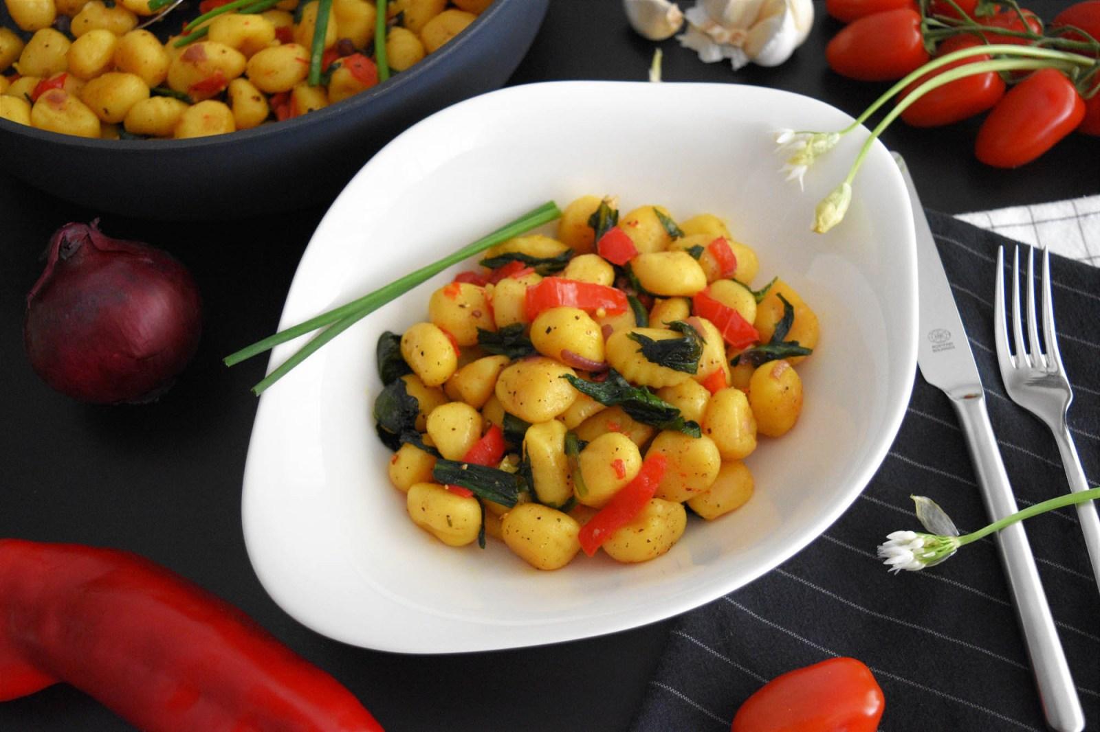 Gebratene Gnocchi mit Bärlauch Würzen Rezept