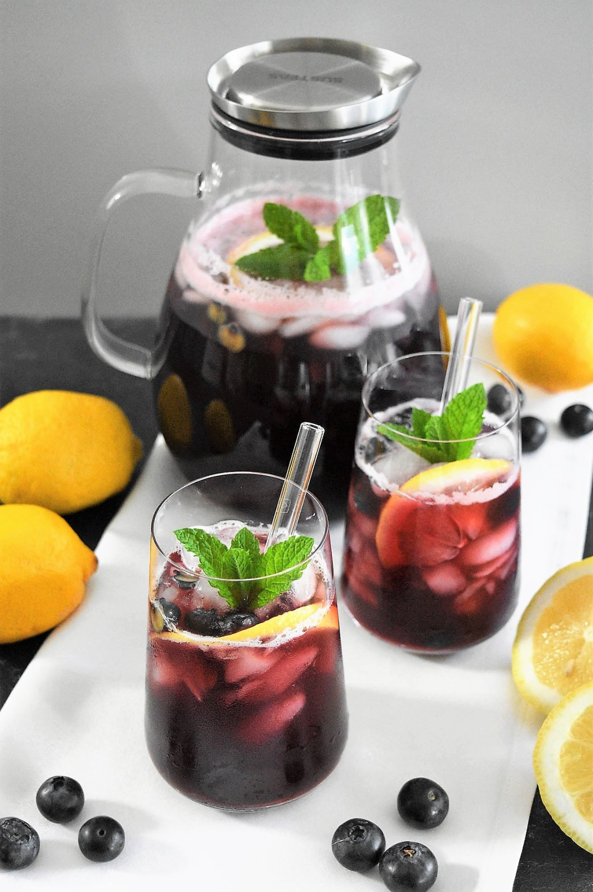 Aronia Limonade mit Heidelbeeren-Sommer Getränk - BallesWorld