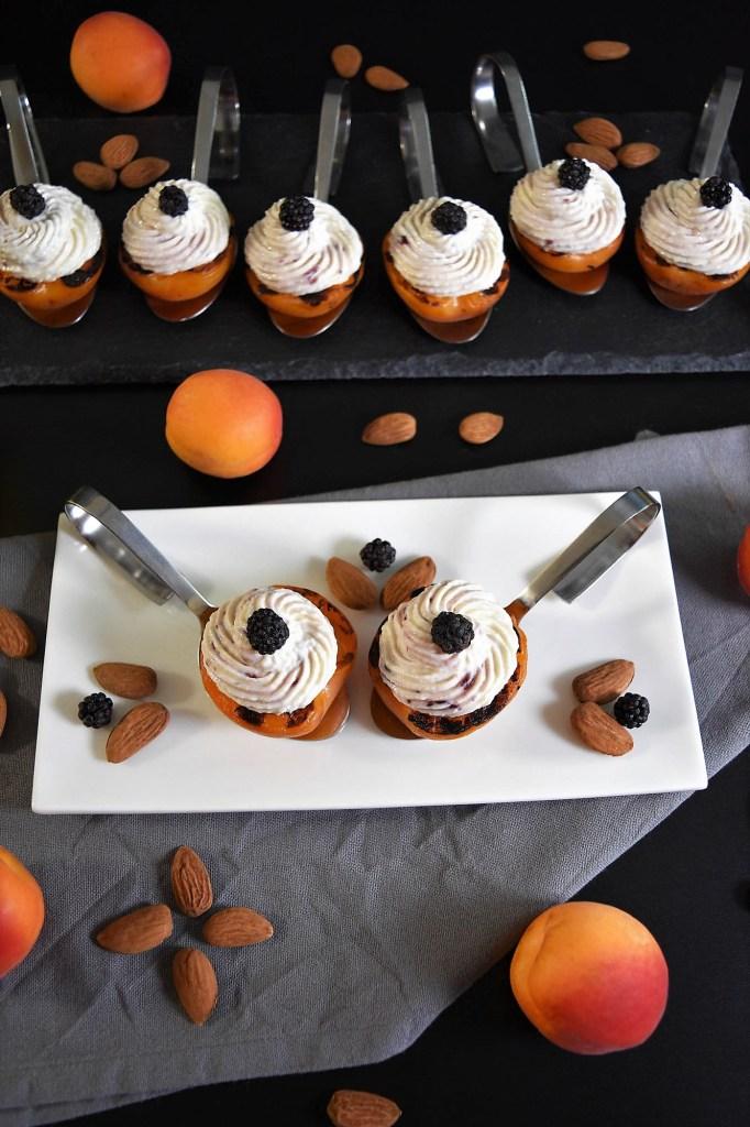 Grill Aprikosen mit Ricotta und Mandeln-Rezeptideen-BallesWorld