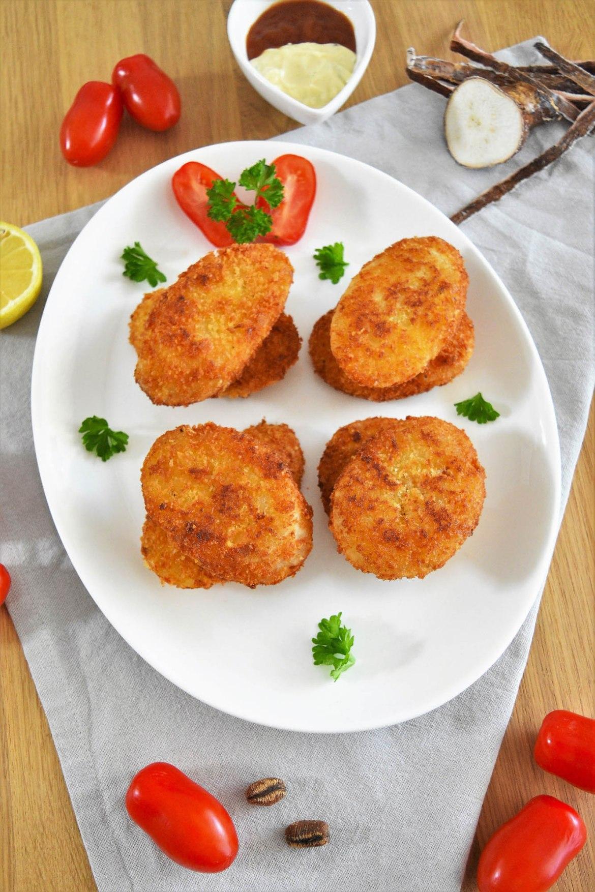 Maniok Schnitzel-Vegetarisch-ballesworld
