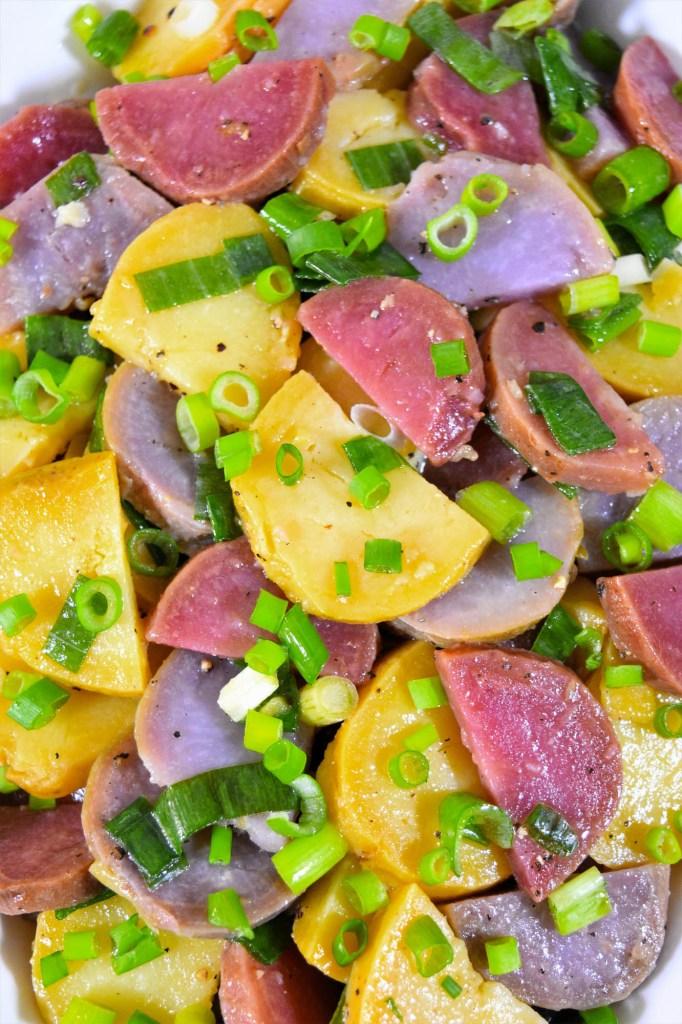 Rot-Lila-Gelb Kartoffelsalat-Rezeptideen-ballesworld