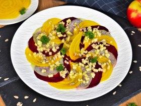 Beete Kohlrabi Salat mit Apfeldressing-Rezept-ballesworld